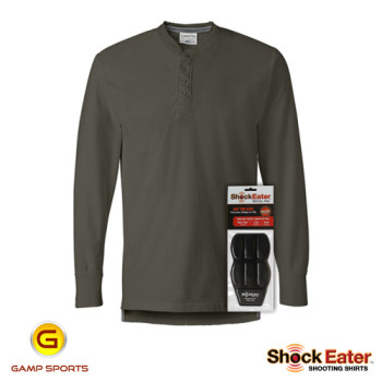 Mens-Henley-Shooting-Shirt w- ShockEater Recoil Pad