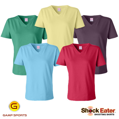 Womens-V-Neck-Shooting-Shirts - Gamp Sports