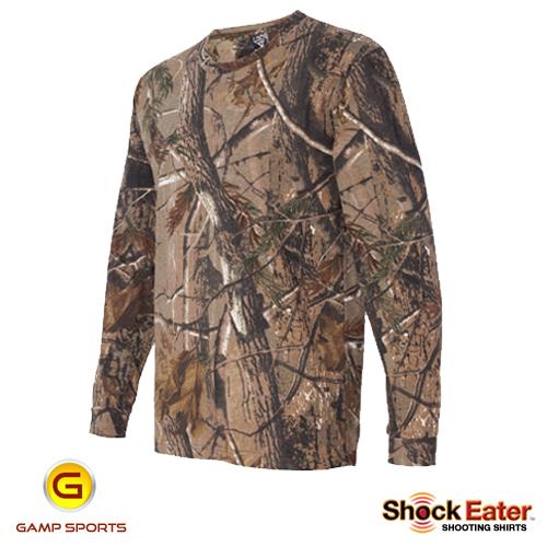 Mens-ShockEater-RealTree-Long-Sleeve-Shooting-Shirt-AP: Gamp Sports