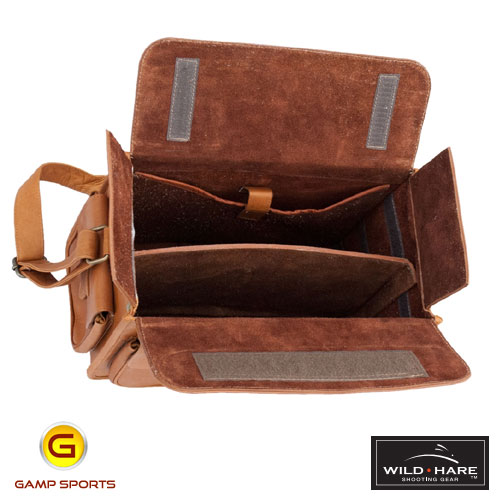 Wild-Hare-Leather-Range-Bag-Open: Gamp Sports