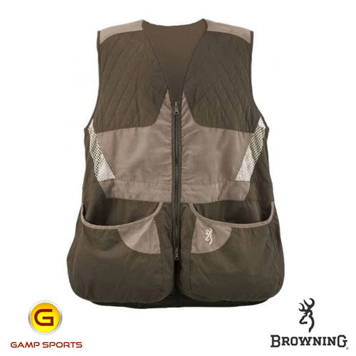 Browning-Men's-Summit-Shooting-Vest-Brown: Gamp Sports