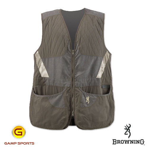 Browning-Men's-Summit-Shooting-Vest-Tan: Gamp Sports