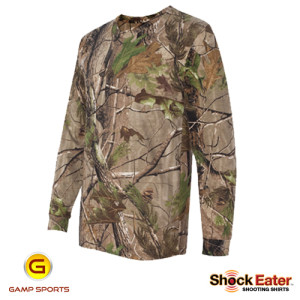 Mens-ShockEater-RealTree-Long-Sleeve-Shooting-Shirt-APG: Gamp Sports