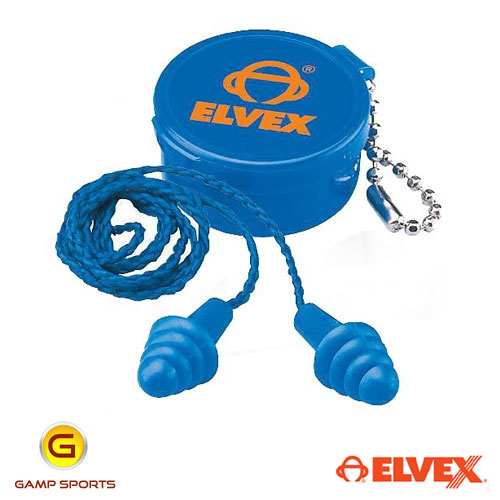 Elvex-Corded-Reusable Ear-Plugs: Gamp Sports
