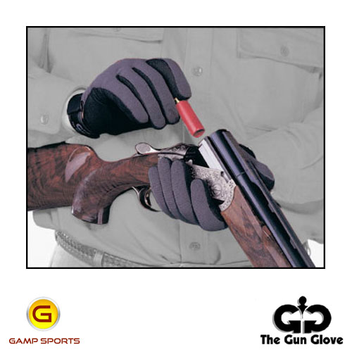 Gun-Glove-Summer-Weight-Grey-Black: Gamp Sports