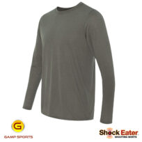 Mens-ShockEater Long Sleeve-Moisture-Wicking-Shooting Shirt: Gamp Sports