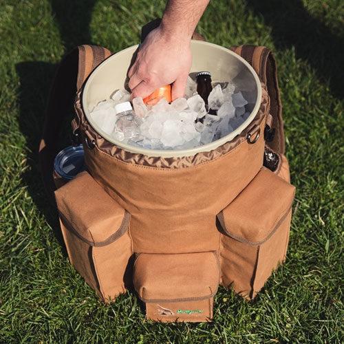 Venture-Bucket-Pack-Duck-Brown-Canvas: Gamp Sports